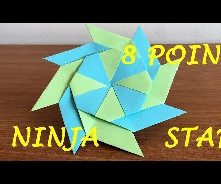 How to Make a Transforming Ninja Star (8-Pointed)