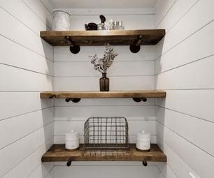 DIY Makeover – Modern Farmhouse Style Small Space Bathroom