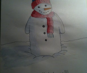 Watercolour Christmas Card!!