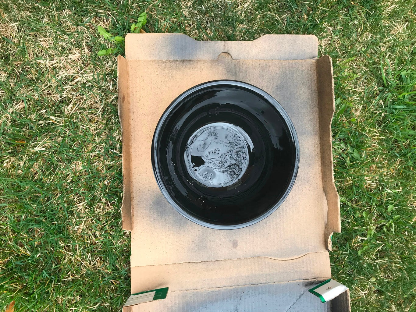 Spray Painting Bowl and Base