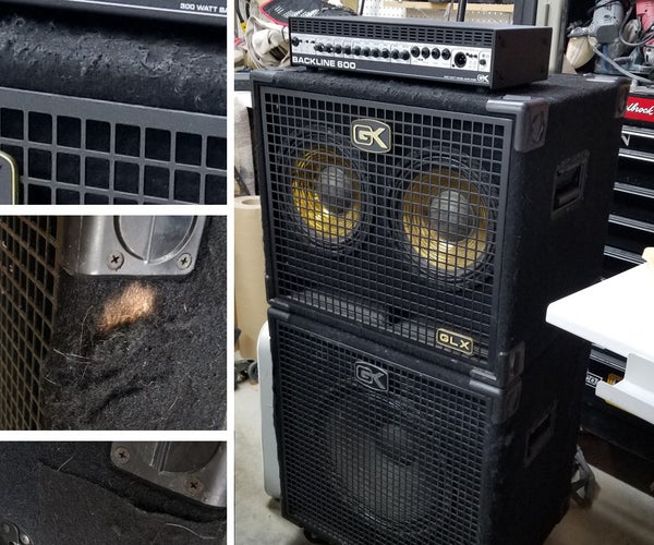 Re-Covering Bass Guitar Speaker Cabinets