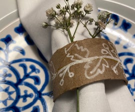Easy Recycled Toilet Paper Napkin Rings