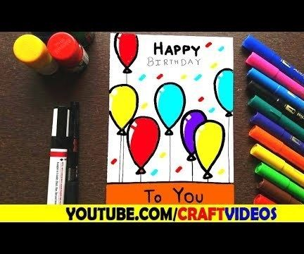 HOW TO DRAW BIRTHDAY CARD