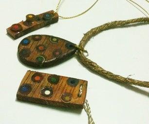 DIY Color Pencil Jewelry