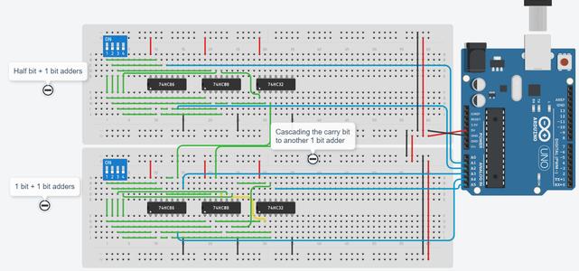 Assembling the 4 Bit Adder