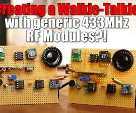 DIY Walkie-Talkie With Generic 433MHz RF Modules