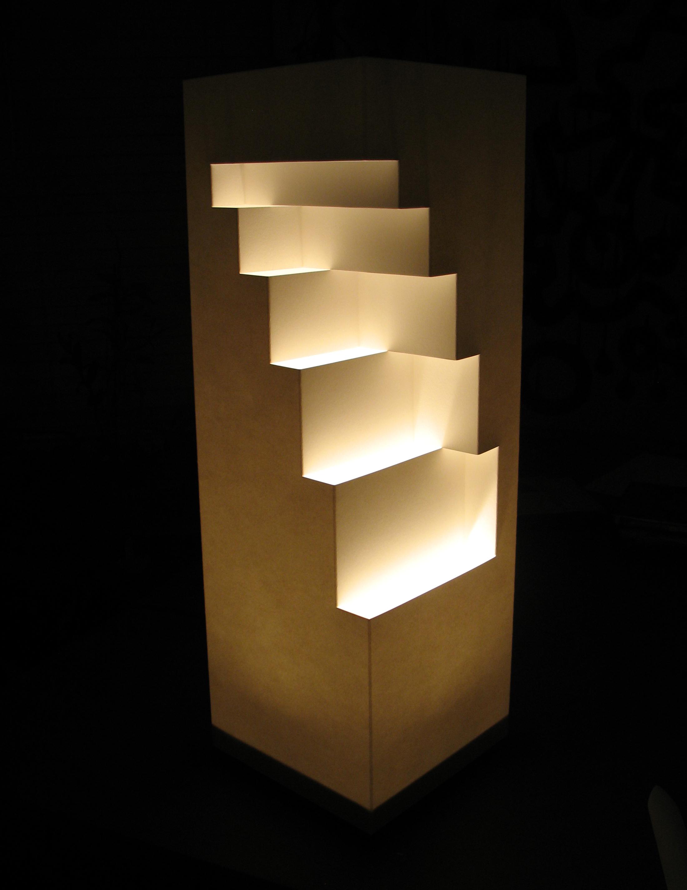 Geometric Cut Paper Table Lamp