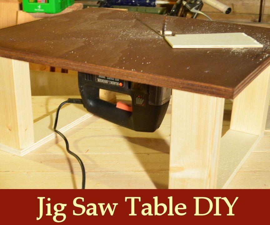 Homemade Jigsaw Table