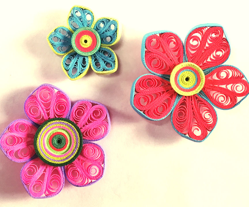 How To Make Beautiful Flower Design Using Paper Art Quilling | Paper Quilling Art