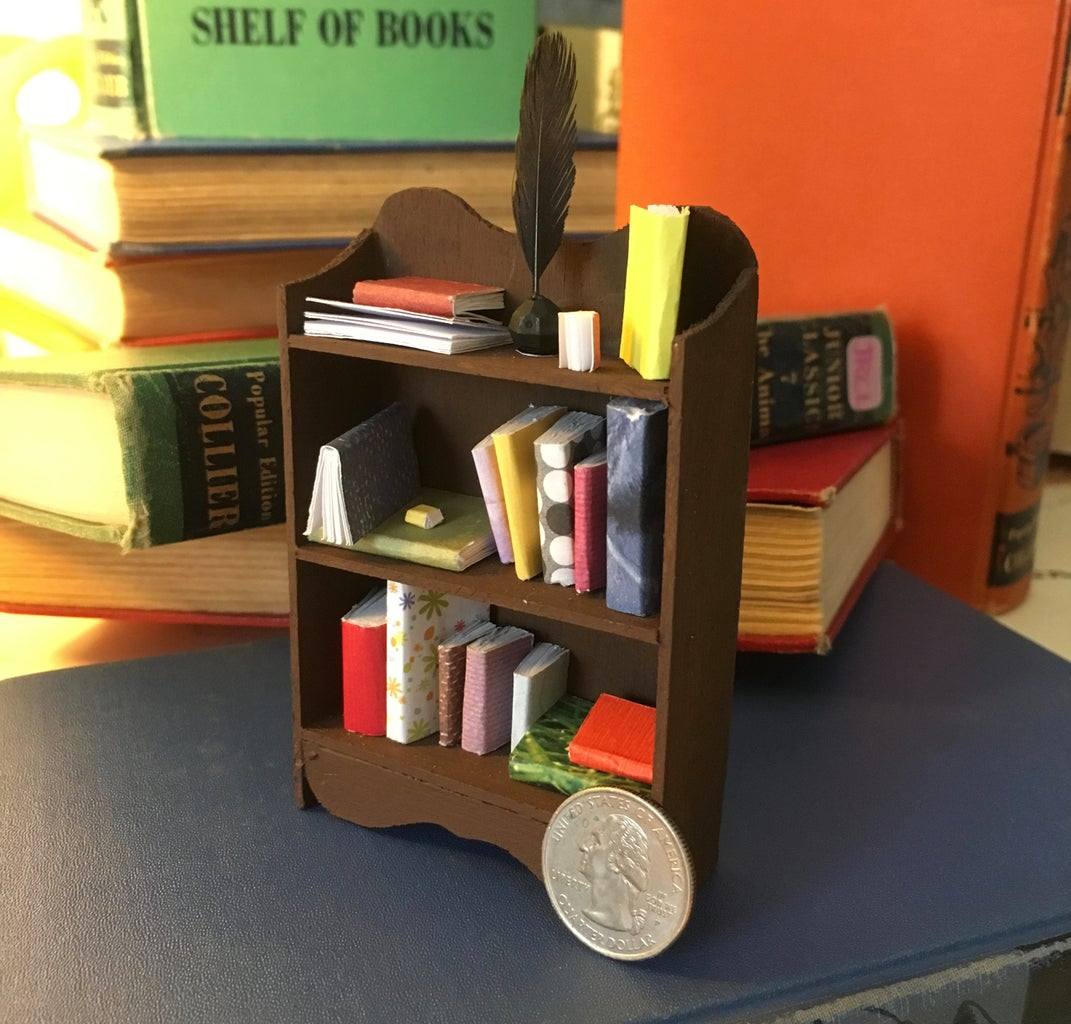 Miniature Bookcase With Books