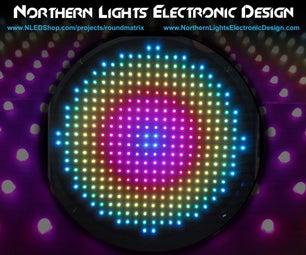 Round LED Matrix - 340x WS2801 Pixels