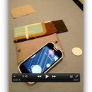 Make a (NFC-enhanced) slip case for your phone