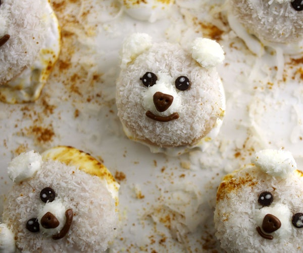 Miniature Doughnut Coconut Creatures