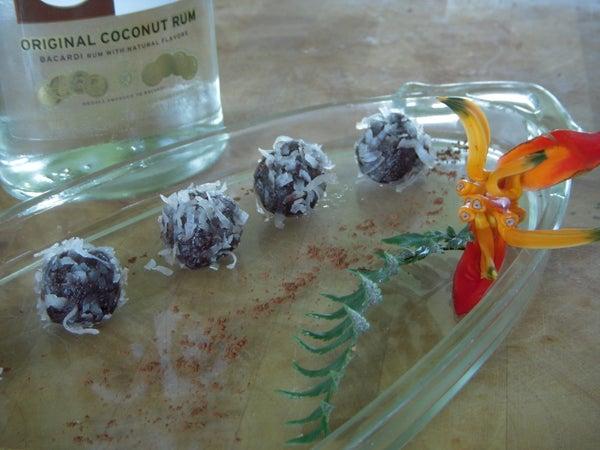 Chocolate +  Coconut + Macademia Rum Balls