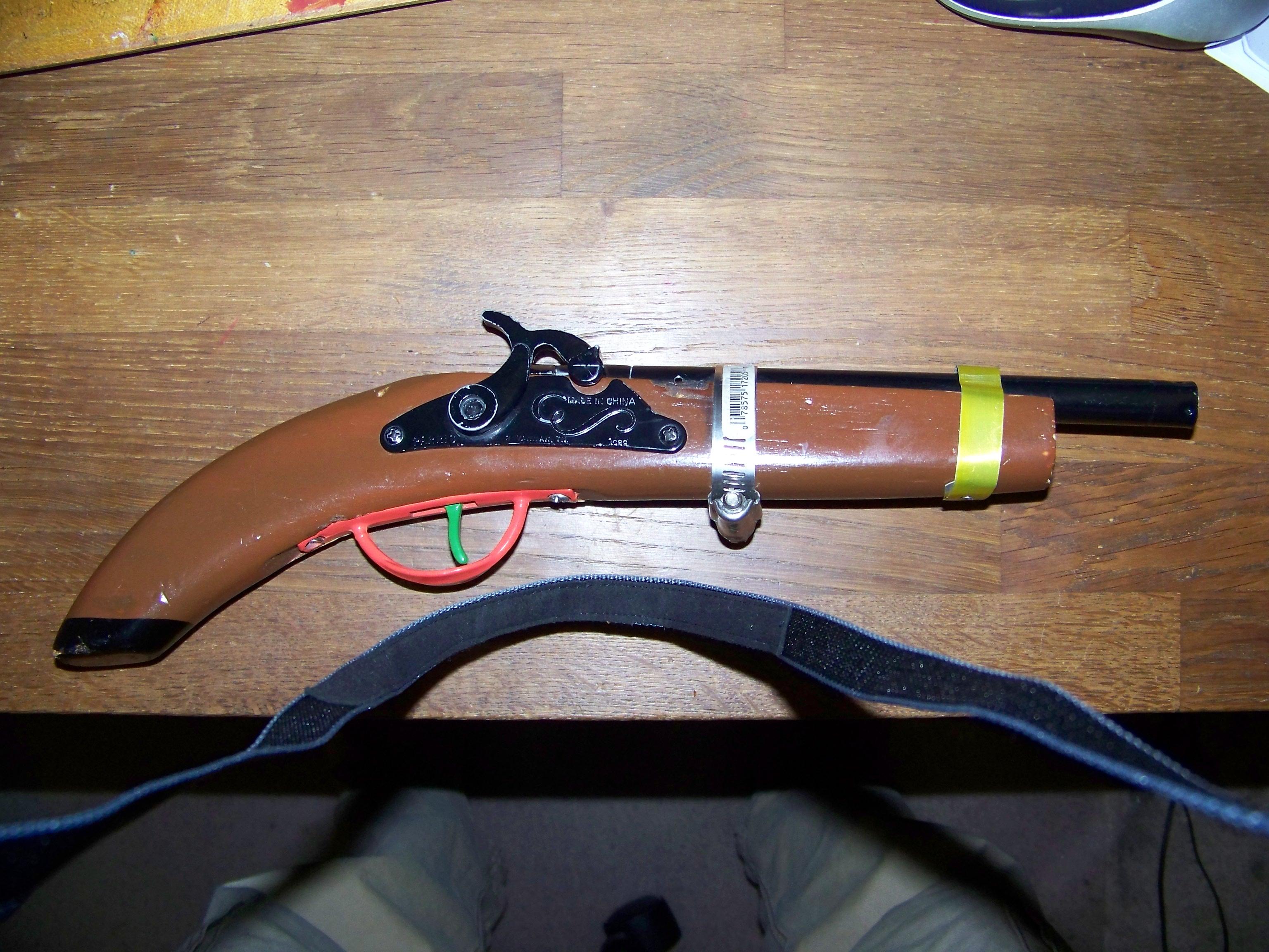 How to modify a cap gun to shoot