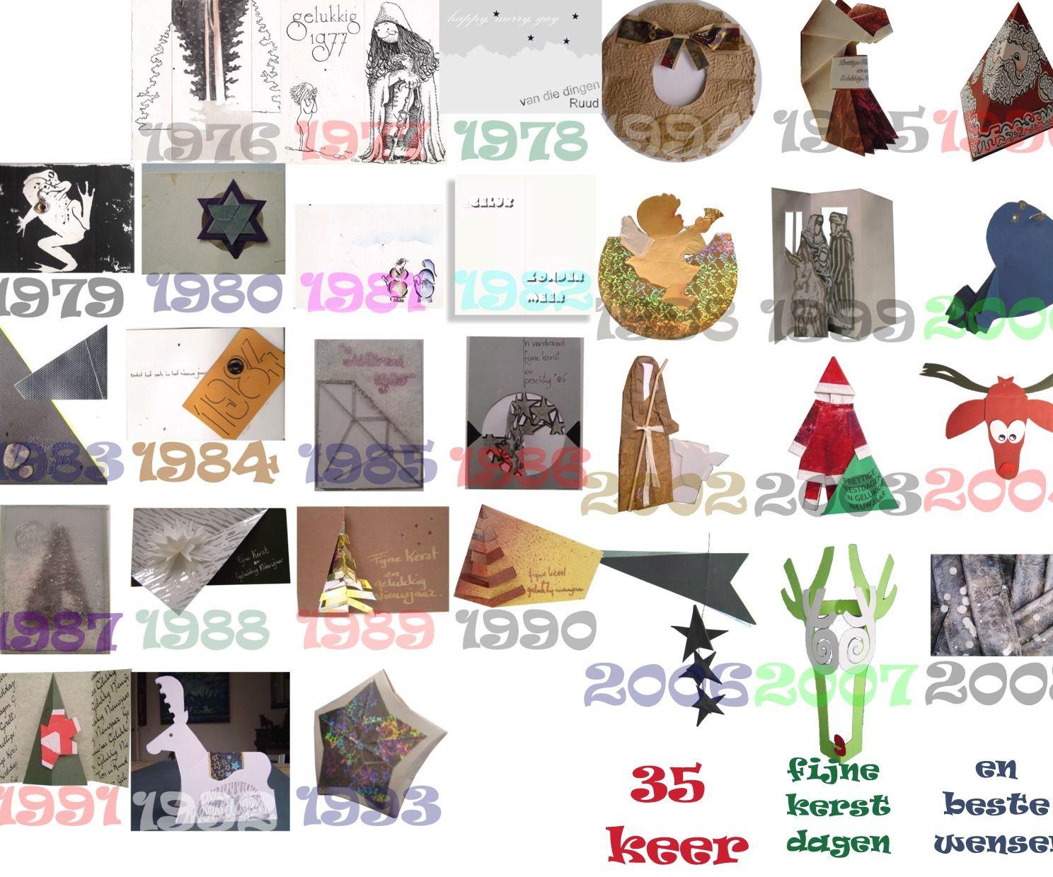 10 original 3D christmas cards