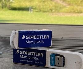 Hide a USB Stick in an Eraser