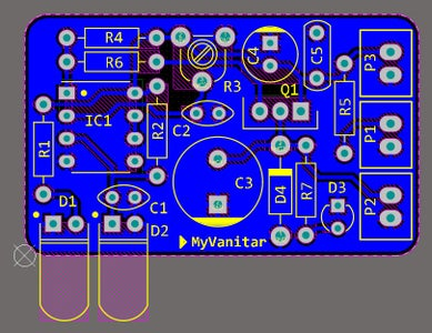 Figure-8: PCB Layout of the Automatic Hand Sanitizer Dispenser (second Design)