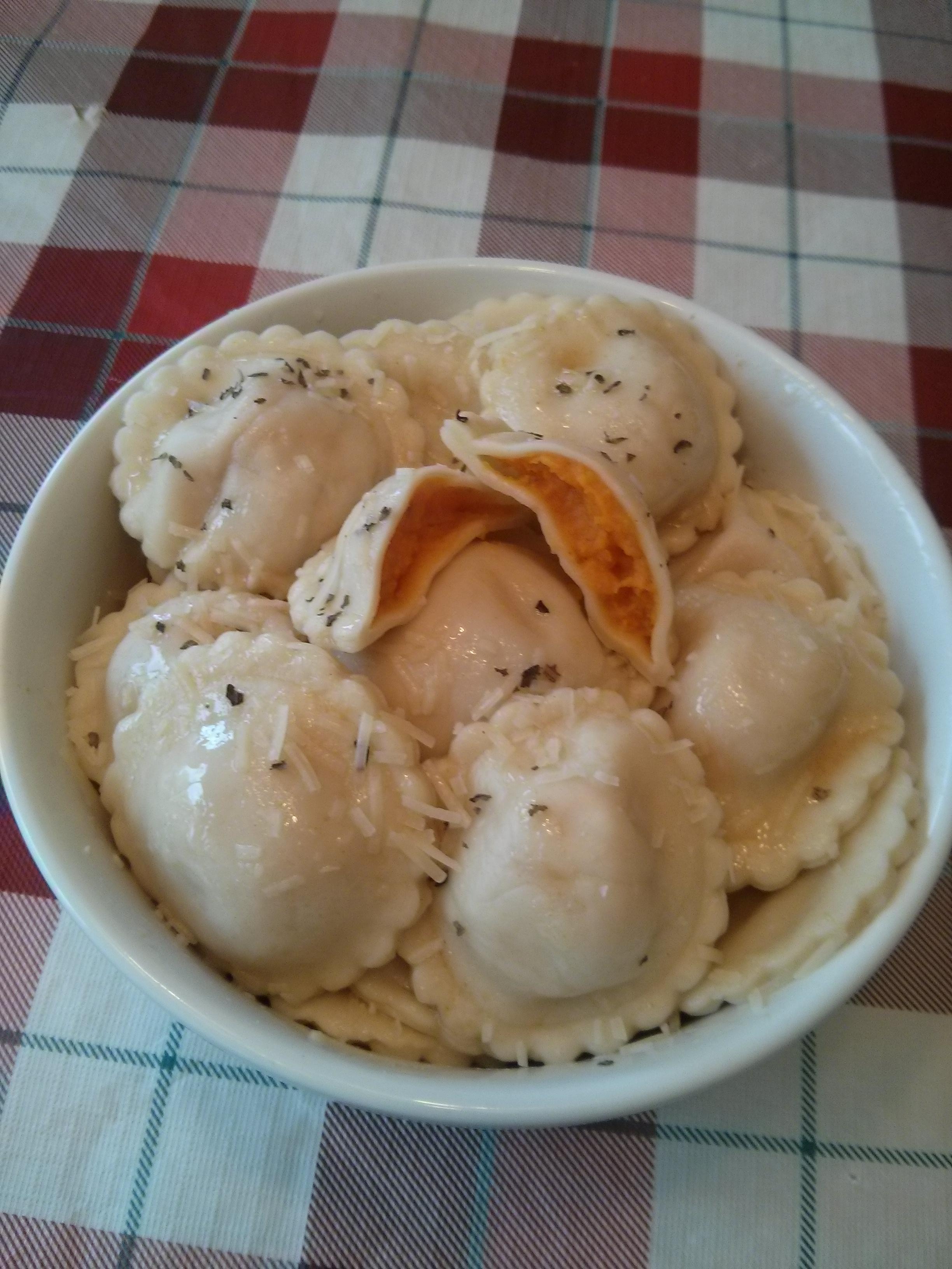 Squash and Sweet Potato Ravioli