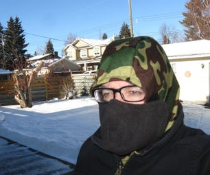 Warm Winter Hat With No Fog Facecover
