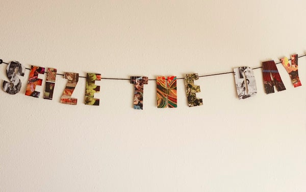 How to Make a Recycled Word Garland