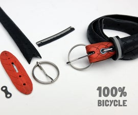 Make a 100% Bicycle Belt