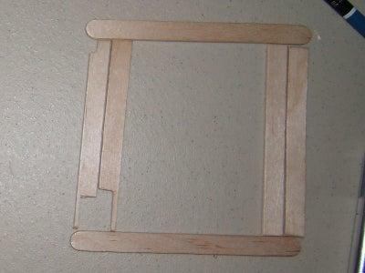 Prepare a Three Layer Popsicle Stick Frame.
