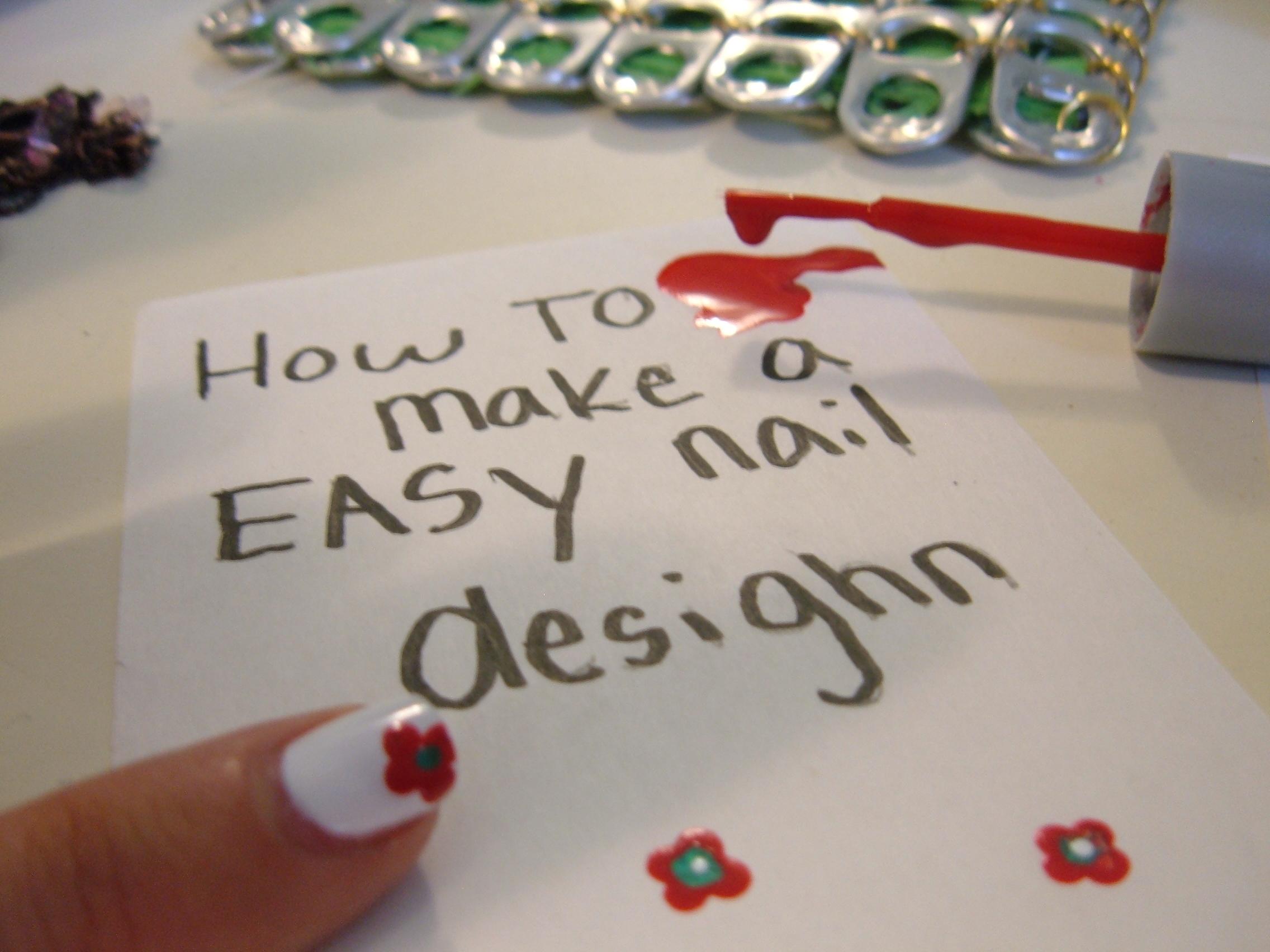how to make a easy nail desighn