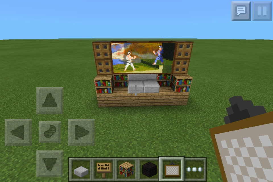 Wide Tv Screen In Minecraft