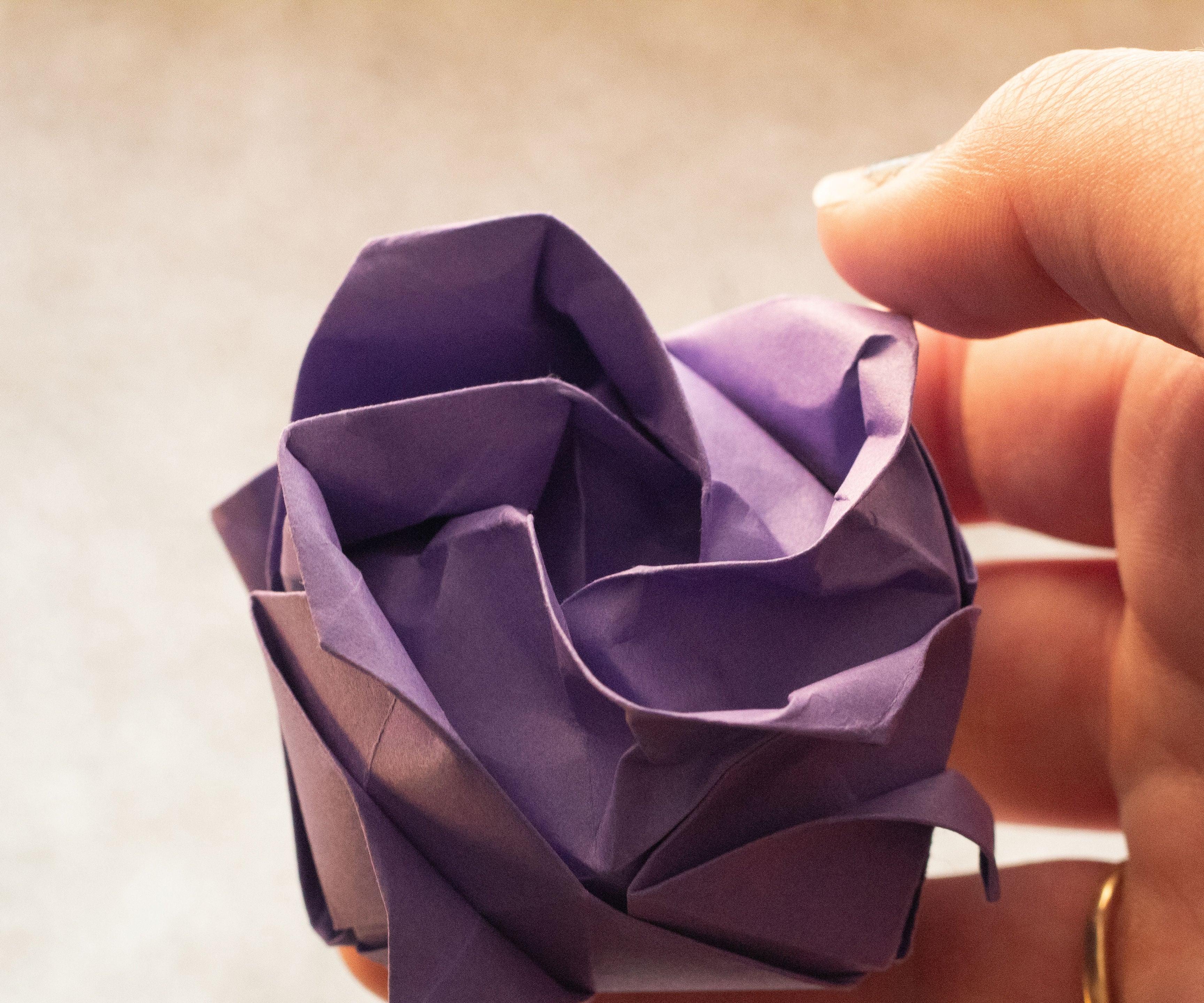 Full Bloom Origami Kawasaki Rose | Origami and math, Origami ... | 2880x3456