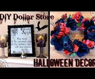 DIY Halloween Decor │ Dollar Store Goth Decor │ Skull & Rose Wreath