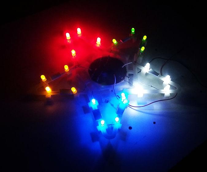 Penta Colored LED Star