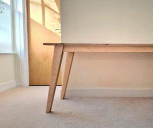 简单的现代DIY胶合板书桌40英镑(55美元)
