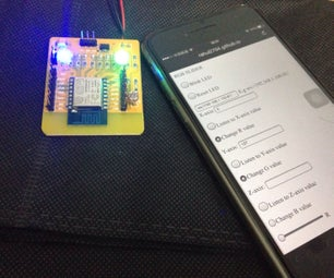 ESP8266+Websocket Server RGB LED Controller