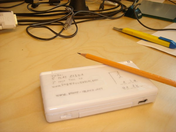 Nintendo DS Lite Notepad