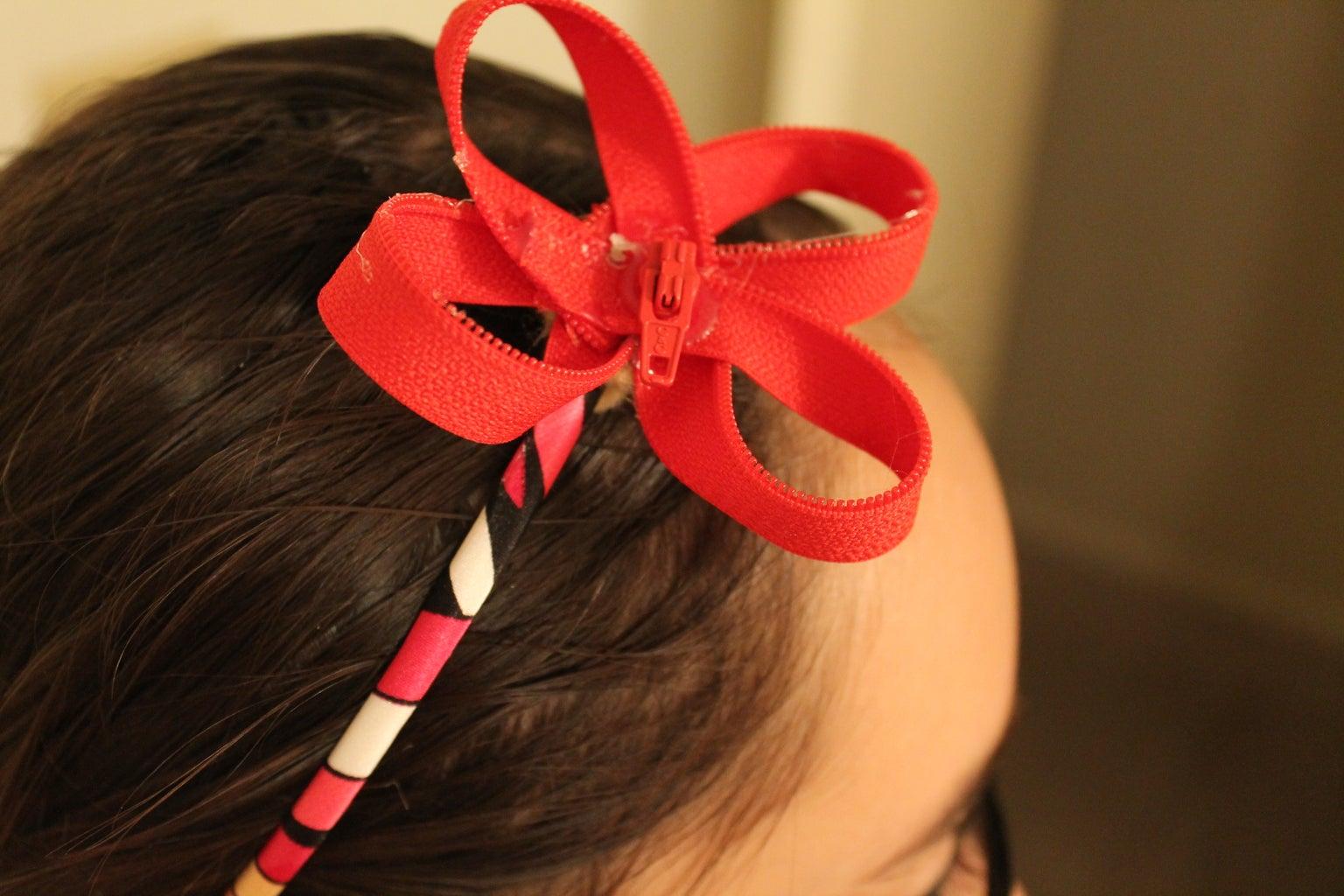 How to Make a Zipper Flower
