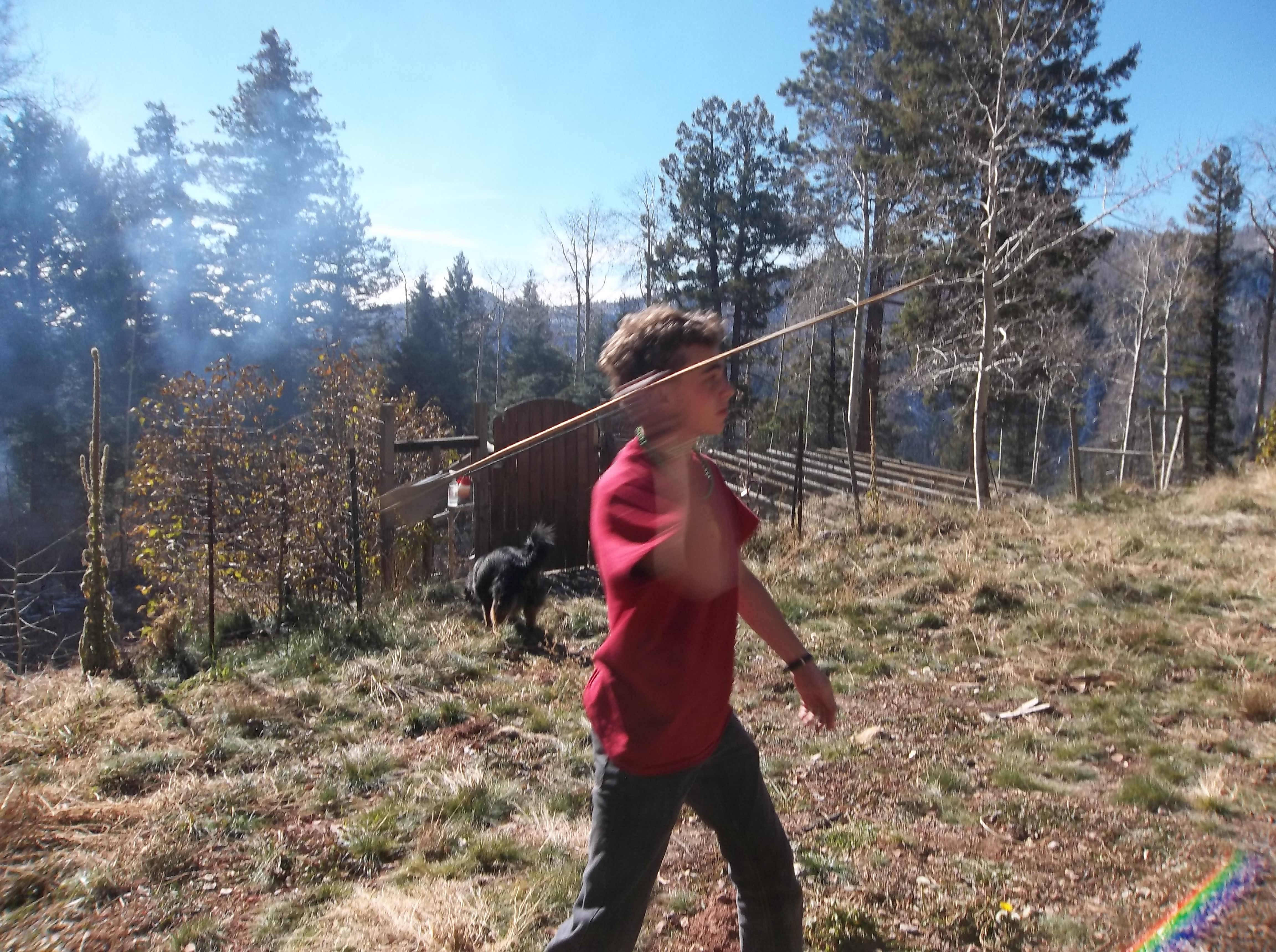 The Pathfinder Dart- Atlatl Using String(With Duct Tape Fletching)
