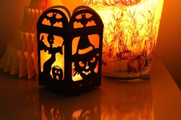 Spooky Silhouette Lantern