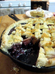 Blueberry and Apricot Pie in a Skillet!!