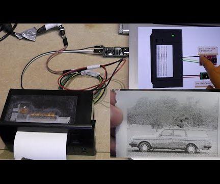 Nice photo prints on a Thermal Printer - halftone and threshold