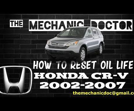 How to Reset Oil Life: Honda CR-V 2002-2007