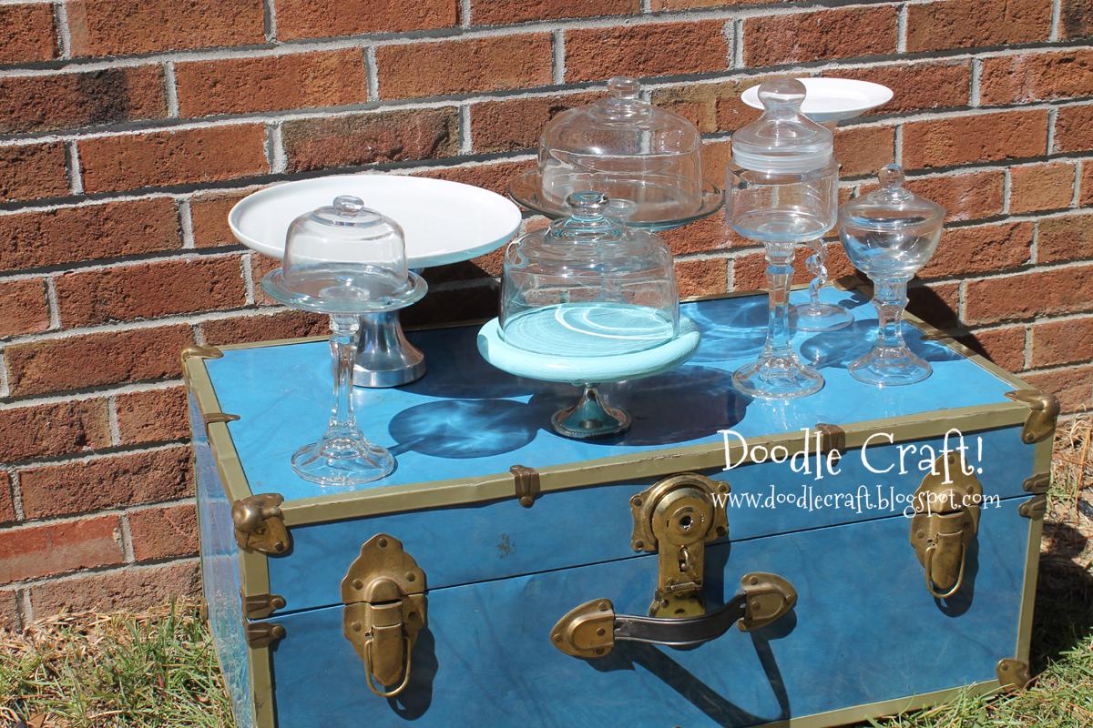 DIY Cupcake & Cake stands and Apothecary Jars!