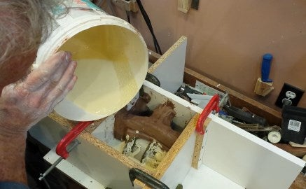 Prepare and Pour the Second Part of the Plaster Mold.