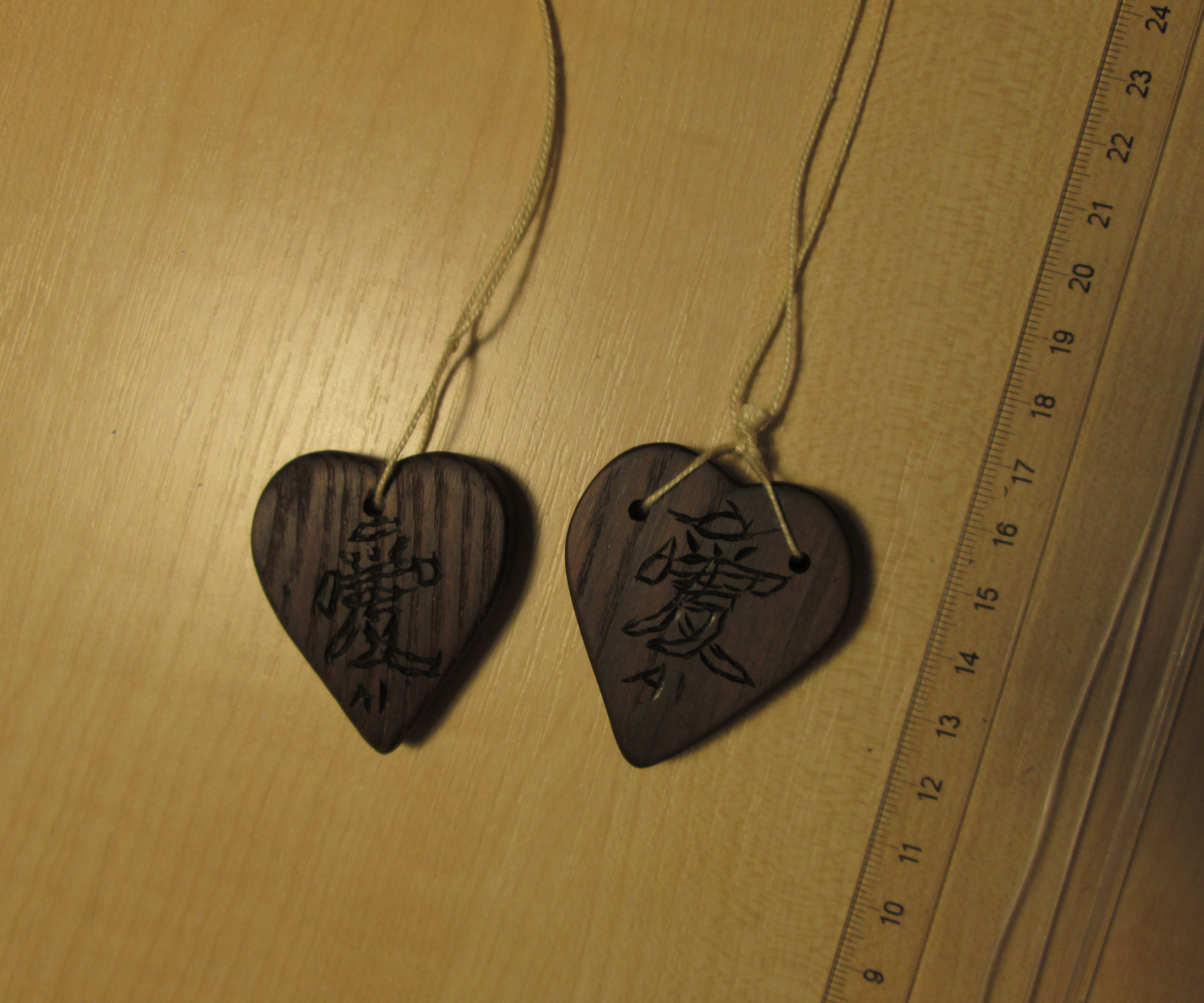 How to make wooden pendant.