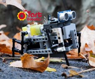 一个DIY四足机器人与Arduino,3D打印,乐高兼容的部分