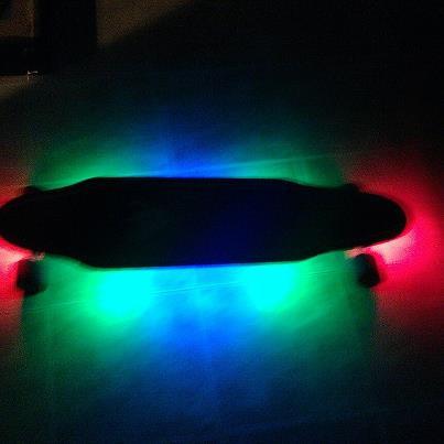 LED longboard