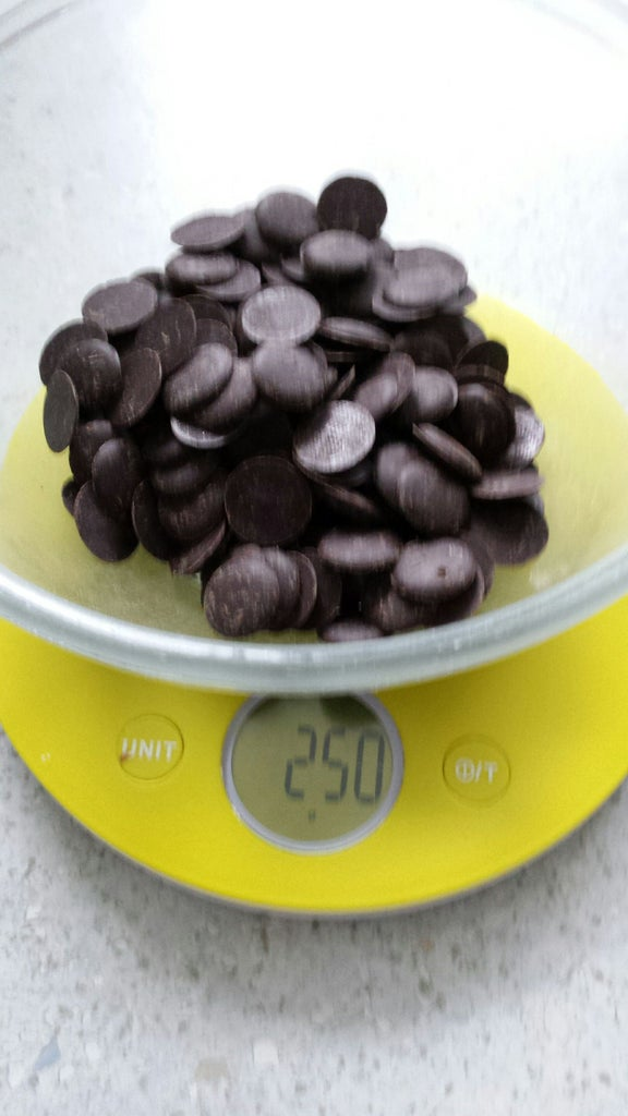 Weigh Out 250g of Good Quality Chocolate.