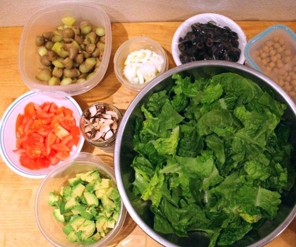 Make Ahead Custom Salad Bar