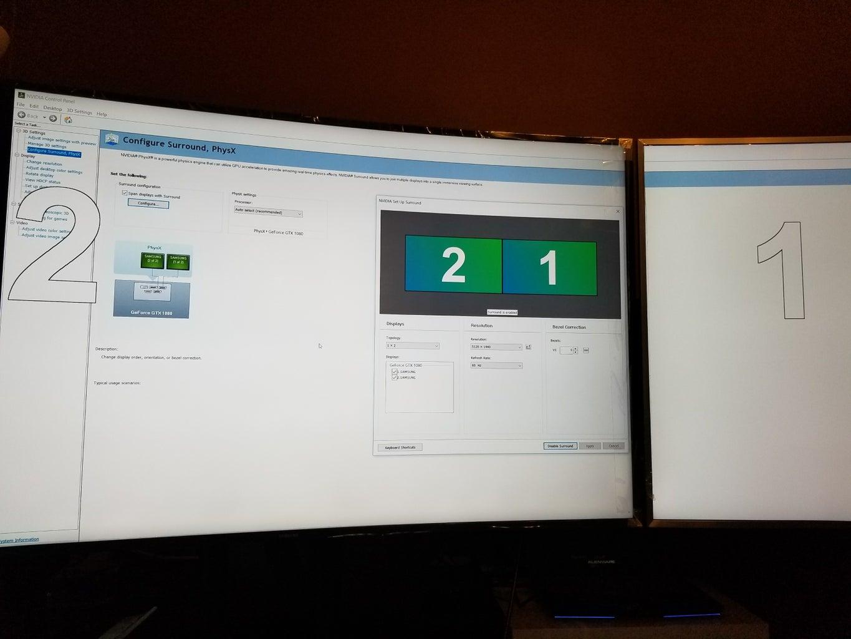 Setup Surround Configuration Via Nvidia Control Panel