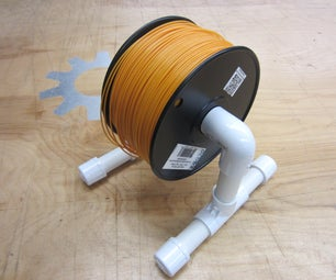 Low Cost 3D Printer Filament Spool Stand
